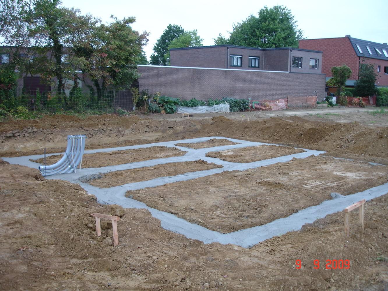 Funderingen gieten ruwbouwwerken onder de grond - Hoe een overdekt terras te bouwen ...