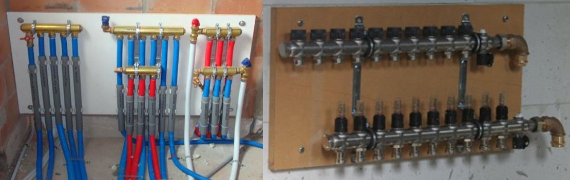 Plaatsen verwarmings en water leidingen Voorbereidingen na ruwbouw ...